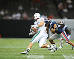 Ole Miss defensive back Cody Prewitt (25) makes a tackle vs. Tulane in the first half at the Mercedes-Benz Superdone in New Orleans, La. on Saturday, September 22, 2012. Ole Miss won 39-0...