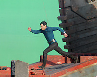 Star Trek 2 Exclusive-Zachary Quinto and Benedict Cumberbatch Stunt Work