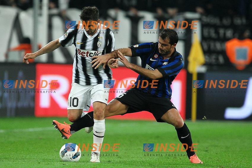 "Alessandro Del Piero Juventus, Dejan Stankovic Inter.Torino 25/3/2012 Stadio ""Juventus Stadium"".Football Calcio 2011/2012 Campionato Italiano Serie A.Juventus Vs Inter.Foto Insidefoto Andrea Staccioli"