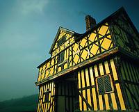Tudor-period gatehouse at Stokesay Castle, Shropshire, England.