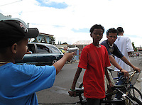 2/15/09---Boy with toy gun in the carnival in the southern town of Arroyo in Puerto Rico..Photo by Angel Valentin, copyright 2009. NO MODEL RELEASE.