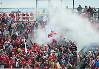 20 October 2012: Toronto FC fans release a smoke bomb during an MLS game between the Montreal Impact and Toronto FC at BMO Field in Toronto, Ontario Canada. .The ended in a 0-0 draw..