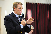 Apache Junction, Arizona. October 19, 2012 - Arizona Congressman Jeff Flake speaks during a Town Hall at the Mountain View Lutheran Church in Apache Junction, Arizona. Flake is running for the senate seat Senator Jon Kyl is leaving as he retires. About 100 citizens were in attendance. Photo by Eduardo Barraza © 2012