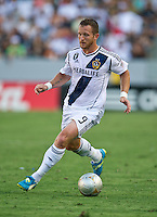 CARSON, CA - June 17, 2012: LA Galaxy forward Chad Barrett (9) during the LA Galaxy vs Portland Timbers match at the Home Depot Center in Carson, California. Final score LA Galaxy 1, Portland Timbers 0.