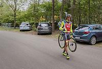 Filippo 'Pipo' Pozzato (ITA/Wilier Triestina–Southeast) arriving at the Tom Boonen farewell race/criterium 'Tom Says Thanks!' in Mol/Belgium