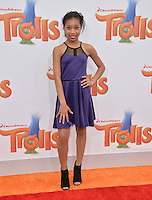 LOS ANGELES, CA. October 23, 2016: Actress Kyla-Drew Simmons at the Los Angeles premiere of &quot;Trolls&quot; at the Regency Village Theatre, Westwood.<br /> Picture: Paul Smith/Featureflash/SilverHub 0208 004 5359/ 07711 972644 Editors@silverhubmedia.com