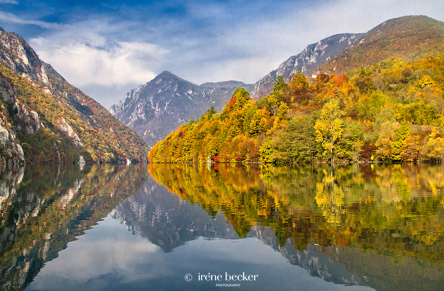 The Drina Gorge - separates Serbia from Bosnia and Herzegovina