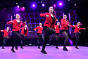 Infinity8 Youth Company, choreographed and trained by Brendon Hansford, appear on the main stage at dance trade show, Move It, at London's ExCel Centre, Docklands.