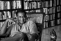 Pradeep Jeganathan at his home in Havelock Town. Colombo.<br /> &quot;Pradeep Jeganathan was born and raised in Colombo, Sri Lanka, where he lives and works, engaged in a variety of intellectual, aesthetic and political projects.&quot; from www.pjeganathan.org