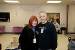Prospect, CT- 18 January 2017-011817CM20-  Social Moments---From left to right, committee member Sandy McDonald and Tom DiPieteo of Waterbury are photographed during Relay For Life of Greater Waterbury 2017 kick-off celebration at the Prospect Volunteer Fire Department on Wednesday.    Christopher Massa Republican-American