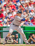 9 June 2013: Minnesota Twins outfielder Chris Parmelee stands at bat against the Washington Nationals at Nationals Park in Washington, DC. The Nationals shut out the Twins 7-0 in the first game of their day/night double-header. Mandatory Credit: Ed Wolfstein Photo *** RAW (NEF) Image File Available ***