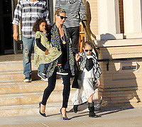 Heidi Klum takes her daughters shopping in Beverly Hills - Los Angeles