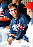 5 July 2009: Atlanta Braves' right fielder Jeff Francoeur sits in the dugout during a game against the Washington Nationals at Nationals Park in Washington, DC. The Nationals defeated the Braves 5-3, to take the rubber game of their 3-game weekend series. Mandatory Credit: Ed Wolfstein Photo