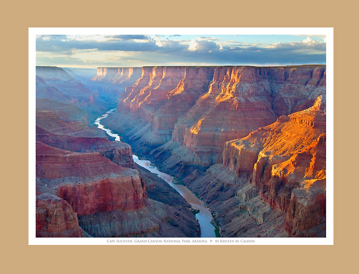 Sunset at Cape Solitude<br /> Overlooking the confluence of the Colorado and Little Colorado Rivers<br /> Grand Canyon National Park