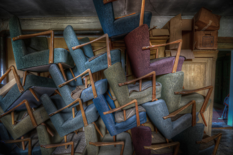 Stacked chairs in Hotel S in the Black Forest