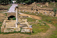 Carthage, Tunisia.  Remains of the Roman Arena, Site of the Martyrdom of Saints Perpetua and Felicity, 203 A.D.
