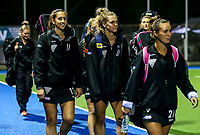 Blacksticks players warm up during the international hockey match between the Blacksticks Women and India, Rosa Birch Park, Pukekohe, New Zealand. Tuesday 16  May 2017. Photo:Simon Watts / www.bwmedia.co.nz