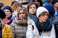 Roma 7 Gennaio 2015<br /> Protesta delle maestre di nidi e materne comunali e del sindacato Usb, in Campidoglio, contro il contratto decentrato unilaterale  imposto dal Sindaco Ignazio  Marino, e per difendere salario e qualit&agrave; dei servizi pubblici.<br /> Rome January 7, 2015<br /> Protest of the teachers of nests and municipal nursery and union Usb, in the Capitol, against the decentralized contract unilaterally imposed by the mayor Ignazio Marino, and to defend wages and quality of public services.