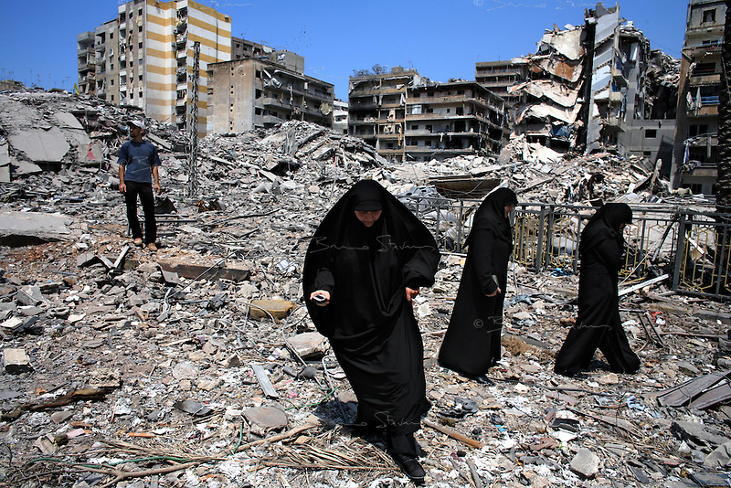 Beirut, Lebanon, Aug 15 2006.The Hezbollah headquarters in Haret Hreik, a southern part of Beirut, have been flattened by 33 days of massive bombardment by the Israeli air force; nothing stands, some former streets have totally disappeared...
