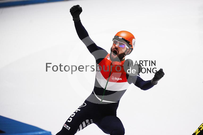 SHORT TRACK: ROTTERDAM: Ahoy, 11-03-2017, KPN ISU World Short Track Championships 2017, Sjinkie Knegt, ©photo Martin de Jong