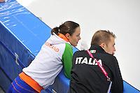 SCHAATSEN: BERLIJN: Sportforum, 08-12-2013, Essent ISU World Cup, Marrit Leenstra (NED), Matteo Anesi (ITA), ©foto Martin de Jong