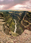 Idaho. Bruneau Canyon with storm clouds.