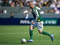 CARSON, CA - June 17, 2012: Portland Timbers forward Kris Boyd (9) during the LA Galaxy vs Portland Timbers match at the Home Depot Center in Carson, California. Final score LA Galaxy 1, Portland Timbers 0.