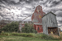 Red Grain Elevator - Montana (color - horizontal)
