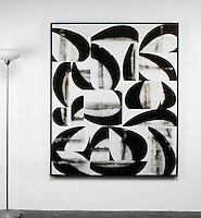 Arnoldi: Arc Series: Destro, Digital Print <br /> Framed Dims 65.75&quot; x 53.5&quot; x 2&quot; Black Float