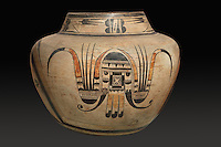 Clay jar with painted decoration, 1900-15, by Nampeyo, 1859-1942, a Hopi potter, from the collection of the Denver Art Museum, Denver, Colorado, USA. Nampeyo, or Num-pa-yu, was a Hopi-Tewa potter who lived on the Hopi Reservation in Arizona. Picture by Manuel Cohen