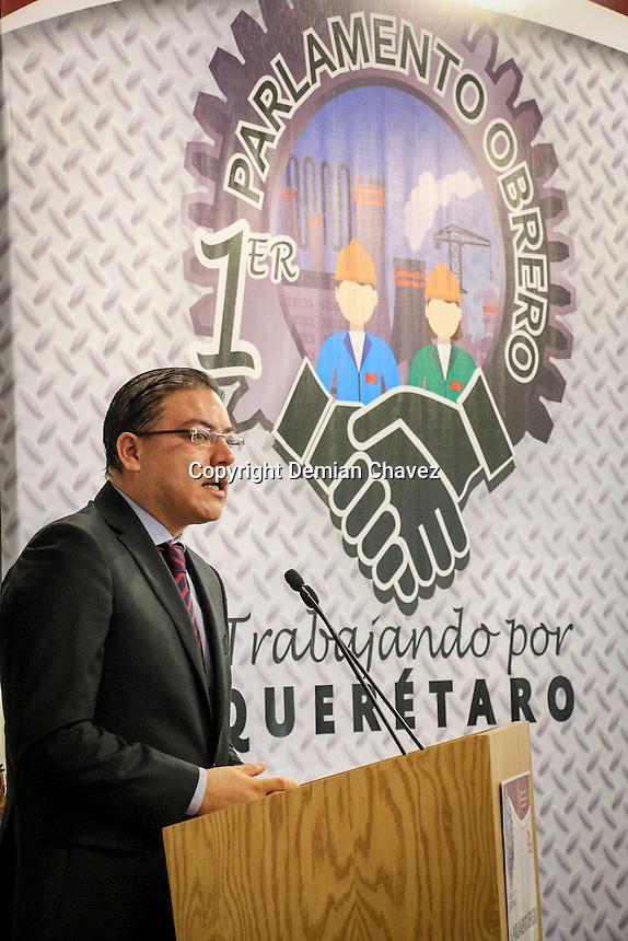 Quer&eacute;taro, Qro. 17 de octubre de 2016.- En la sede del congreso del estado se llev&oacute; acabo el Primer Parlamento Obrero. <br /> <br /> Foto: Cesar Colunga / Obture.