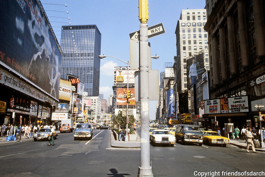New York City: Times Square--looking north. Photo '91.
