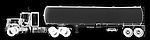 X-ray image of a tanker truck (white on black) by Jim Wehtje, specialist in x-ray art and design images.