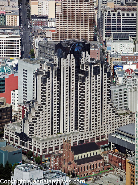 aerial photograph San Francisco Marriott hotel Zeidel Partnership Architects