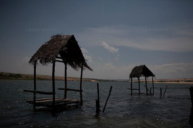 Fishing huts in Mui Ne.
