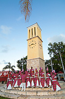 The St. Croix Heritage Dancers performing Quadrille dances at the clock tower in Frederiksted, St. Croix, VI