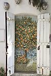Orange Tree Tile Decoration in Silves, Algarve, Portugal