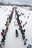 Musher Jack Berry at the start of the 1000 mile 2004 Yukon Quest in Fairbanks, Alaska