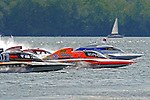 Start/Final: Tom Pakradooni, GP-88, Patrick Haworth, GP-777 &quot;The Crush&quot;,Marty Wolfe, GP-93 &quot;Renegade&quot;, Bert Henderson, GP-77 &quot;Steeler&quot;, Grand Prix class hydroplane(s).Syracuse Hydrofest, Onondaga Lake, Syracuse, NY.20/21 June, 2009, Dayton, OH USA..&copy;F. Peirce Williams 2009 USA.F.Peirce Williams.photography.ref: RAW (.NEF) File Available