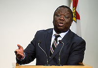 The Prime minister of Zimbabwe Dr the Rt Hon Morgan Tavangirai speaks to the media  during a joint press conference with the Prime Minister of New Zealand John Key at the Beehive, Wellington, New Zealand, Wednesday, July 25, 2012. Credit:SNPA / Marty Melville