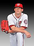 25 February 2011: Washington Nationals' pitcher Drew Storen poses for his Photo Day portrait at Space Coast Stadium in Viera, Florida. Mandatory Credit: Ed Wolfstein Photo