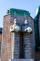 Finland, Helsinki. Helsinki Central railway station.