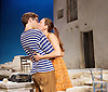 Sunset at the Villa Thalia <br /> by Alexi Kaye Campbell<br /> at Dorfman Theatre, National Theatre, Southbank, London, Great Britain <br /> <br /> 31st May 2016 <br /> press photocall <br />  <br /> <br /> directed by Simon Godwin<br /> <br /> <br /> <br /> Sam Crane as Theo <br /> <br /> <br /> Pippa Nixon as Charlotte <br /> <br />  <br /> <br /> Photograph by Elliott Franks <br /> Image licensed to Elliott Franks Photography Services