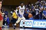 08 November 2014: Duke's Justise Winslow. The Duke University Blue Devils hosted the University of Central Missouri Mules at Cameron Indoor Stadium in Durham, North Carolina in an NCAA Men's Basketball exhibition game. Duke won the game 87-47.