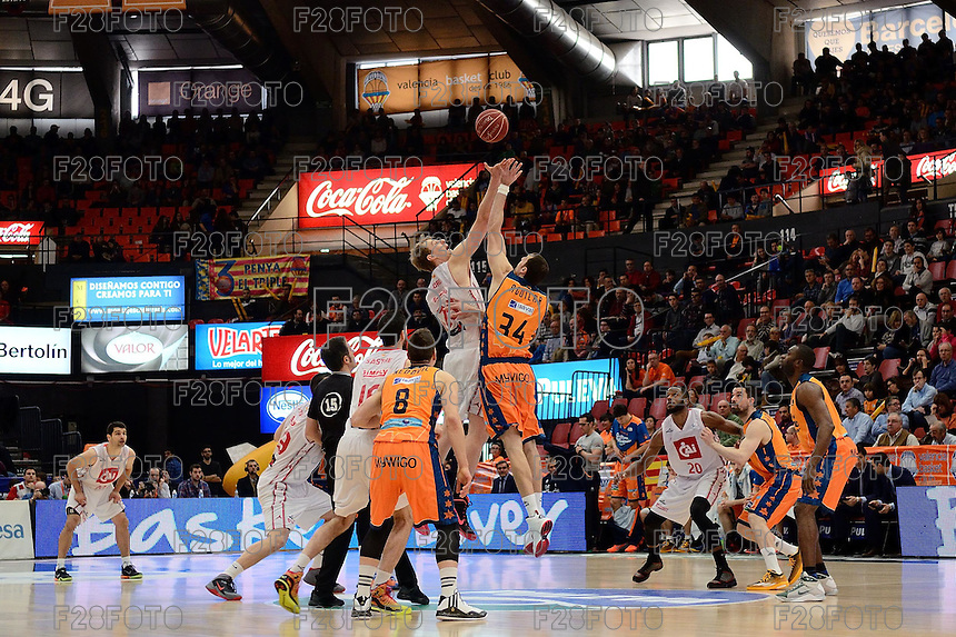 Valencia Basket 106-109 Cai Zaragoza (8-3-2015)