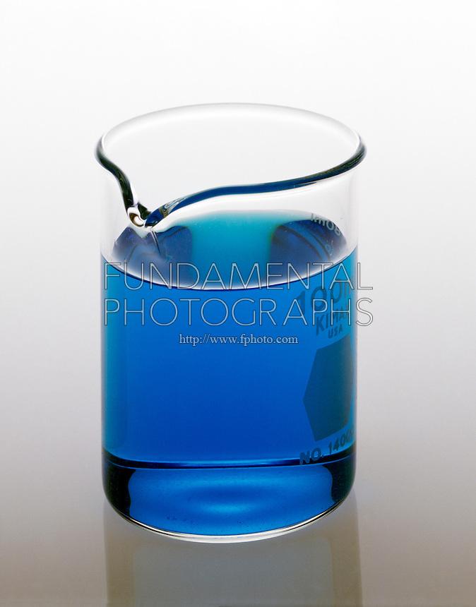 CUPRIC CHLORIDE (CuCl2) SOLUTION<br /> In A Beaker.