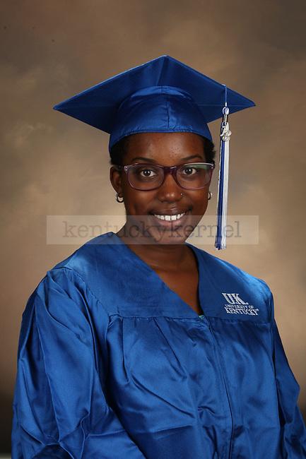 Robinson, Jamisha graduation portrait taken at the fall Grad Salute at the University of Kentucky in Lexington, Ky., on 10/1/13.