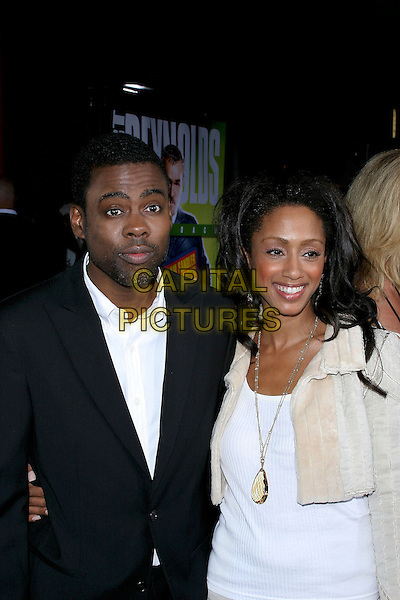"""CHRIS ROCK & MALAAK COMPTON-ROCK.World Premiere of """"The Longest Yard"""" held at Grauman's Chinese Theatre..May 19th, 2005.Photo Credit: Jacqui Wong/AdMedia.half length necklace.www.capitalpictures.com.sales@capitalpictures.com.© Capital Pictures."""