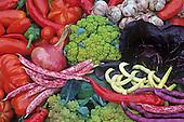 Colorful Italian Heirloom Vegetable and Fruit Harvest, Seed savers exchange.