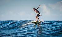 Namotu Island Resort, Nadi, Fiji (Friday, November 25 2016): Kai Lenny (HAW) on his foil board. The swell had dropped this morning with the clean waves in the 3' range at Cloudbreak.   Namotu Lefts, Wilkes  and Swimming Pools had waves in the 2'-3' range with a lot of the guests taking advantage  of the light winds and the clean conditions.   Zane and Kai foil boarded at Lefts early this morning.<br /> Photo: joliphotos.com
